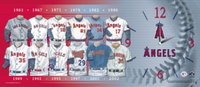 Anaheim Angels Uniform History Clock