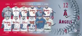 Anaheim Angels Uniform History Clock