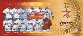 Houston Astros Uniform History Clock