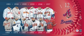 Atlanta Braves Uniform History Clock
