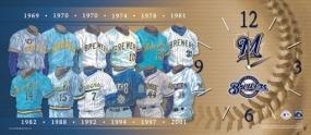 Milwaukee Brewers Uniform History Clock