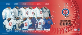 Chicago Cubs Uniform History Clock