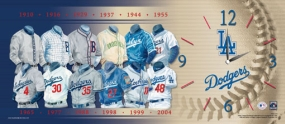 Los Angeles Dodgers Uniform History Clock