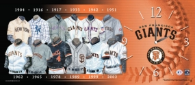 San Francisco Giants Uniform History Clock