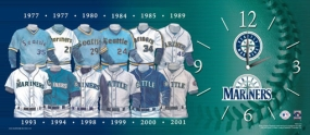 Seattle Mariners Uniform History Clock