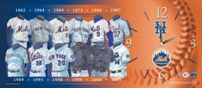 New York Mets Uniform History Clock
