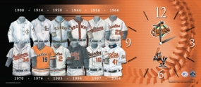 Baltimore Orioles Uniform History Clock