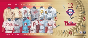 Philadelphia Phillies Uniform History Clock