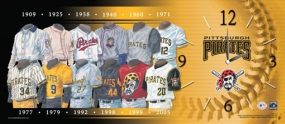Pittsburgh Pirates Uniform History Clock