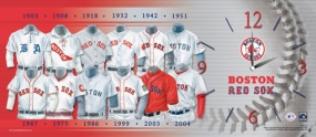 Boston Red Sox Uniform History Clock