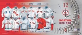 Boston Red Sox Uniform History Clock