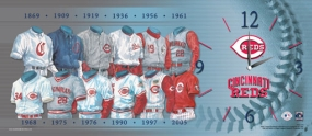 Cincinnati Reds Uniform History Clock
