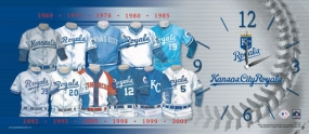 Kansas City Royals Uniform History Clock