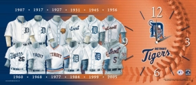 Detroit Tigers Uniform History Clock