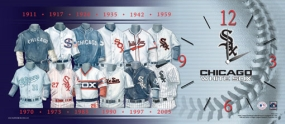 Chicago White Sox Uniform History Clock