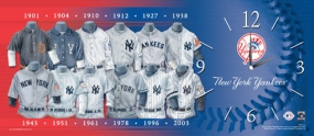 New York Yankees Uniform History Clock