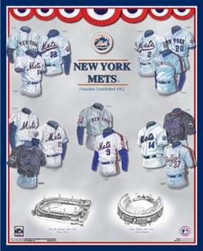 New York Mets 11 x 14 Uniform History Plaque