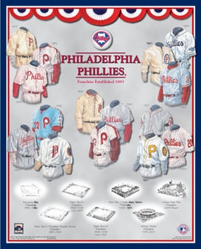 Philadelphia Phillies 11 x 14 Uniform History Plaque