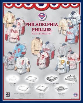Philadelphia Phillies 11 x 14 Uniform History Plaque