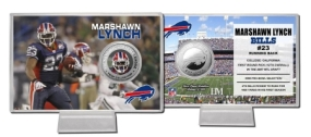 Marshawn Lynch Silver Color Coin Card