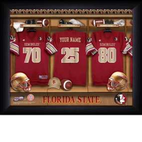 Florida State Seminoles Personalized Locker Room Print