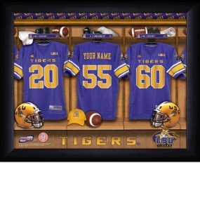 LSU Tigers Personalized Locker Room Print