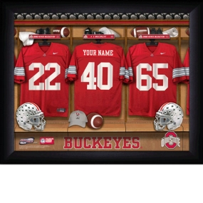 Ohio State Buckeyes Personalized Locker Room Print