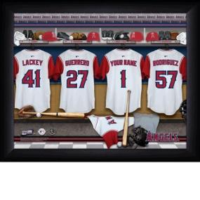 Anaheim Angels Personalized Locker Room Print