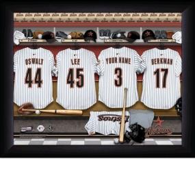 Houston Astros Personalized Locker Room Print
