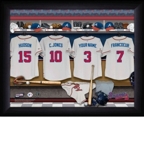 Atlanta Braves Personalized Locker Room Print
