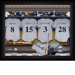 Milwaukee Brewers Personalized Locker Room Print