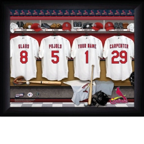 St. Louis Cardinals Personalized Locker Room Print