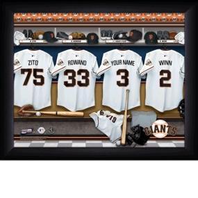 San Francisco Giants Personalized Locker Room Print