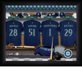 Seattle Mariners Personalized Locker Room Print