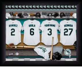 Florida Marlins Personalized Locker Room Print