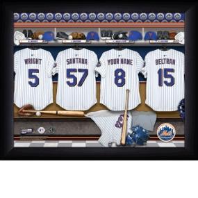 New York Mets Personalized Locker Room Print