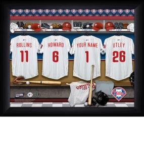 Philadelphia Phillies Personalized Locker Room Print