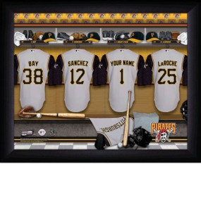 Pittsburgh Pirates Personalized Locker Room Print