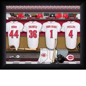 Cincinnati Reds Personalized Locker Room Print