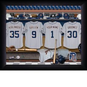 Detroit Tigers Personalized Locker Room Print