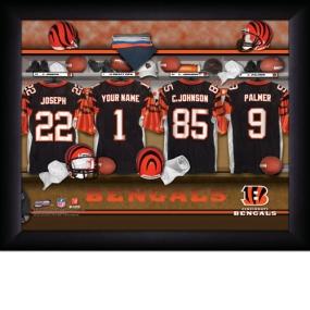 Cincinnati Bengals Personalized Locker Room Print