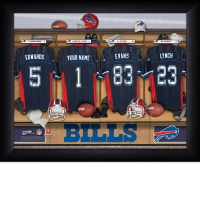 Buffalo Bills Personalized Locker Room Print