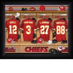 Kansas City Chiefs Personalized Locker Room Print