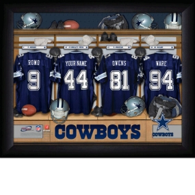 Dallas Cowboys Personalized Locker Room Print