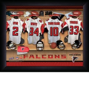 Atlanta Falcons Personalized Locker Room Print