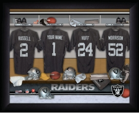 Oakland Raiders Personalized Locker Room Print