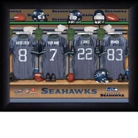 Seattle Seahawks Personalized Locker Room Print