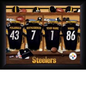 Pittsburgh Steelers Personalized Locker Room Print