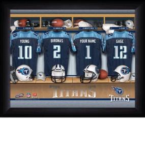 Tennessee Titans Personalized Locker Room Print