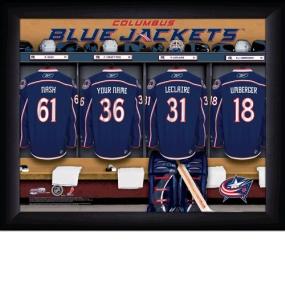 Columbus Blue Jackets Personalized Locker Room Print